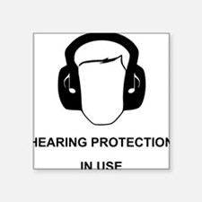 "Hearing Protection with Tex Square Sticker 3"" x 3"""