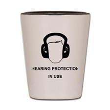 Hearing Protection with Text Black Shot Glass