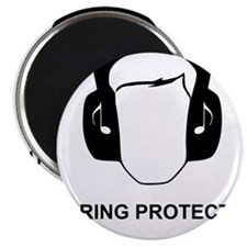 Hearing Protection with Text Black Magnet