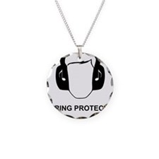 Hearing Protection with Text Necklace
