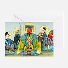 Koan-kong, Chinese god of riches Greeting Card