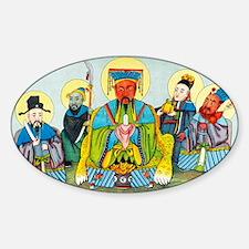 Koan-kong, Chinese god of riches Sticker (Oval)