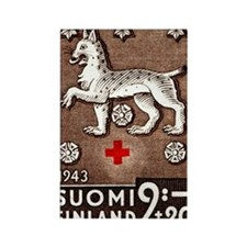 1943 Finland Lynx Coat of Arms Po Rectangle Magnet