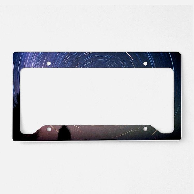 Leonid meteors License Plate Holder