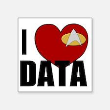 """I Love Data Square Sticker 3"""" x 3"""""""