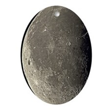 Last quarter Moon Oval Ornament