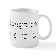 My Heart Belongs To Alberto Small Mug