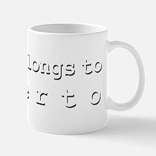 My Heart Belongs To Alberto Small Small Mug