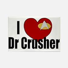I Love Dr Crusher Rectangle Magnet