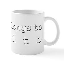 My Heart Belongs To Benito Mug