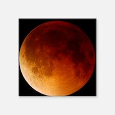 """Lunar eclipse, 28/08/2007 Square Sticker 3"""" x 3"""""""