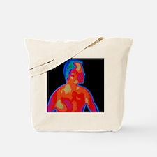 Man's thermogram Tote Bag