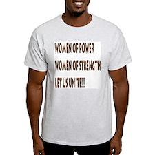 Women of Power... Ash Grey T-Shirt