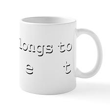 My Heart Belongs To Bret Small Mug