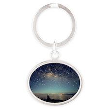 Milky Way Oval Keychain