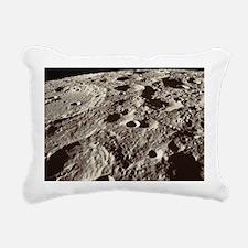 Lunar surface Rectangular Canvas Pillow