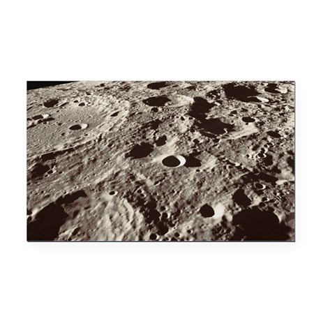 Lunar surface Rectangle Car Magnet