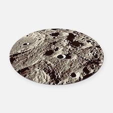 Lunar surface Oval Car Magnet