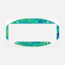 MAP microwave background License Plate Holder