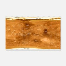 Mars topographical map, satelli Car Magnet 20 x 12