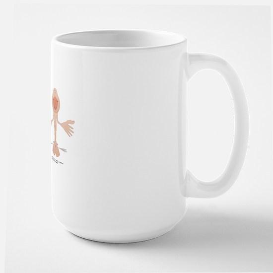 Motor and sensory homunculi Large Mug