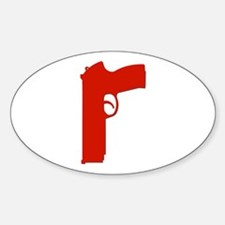 Red Beretta Oval Decal