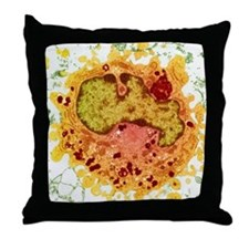 Macrophage cell, TEM Throw Pillow