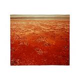 Mars surface Fleece Blankets