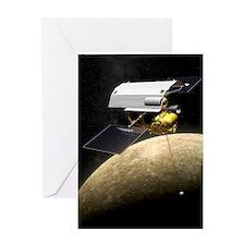 Messenger spacecraft at Mercury Greeting Card