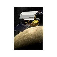 Messenger spacecraft at Mercury Rectangle Magnet