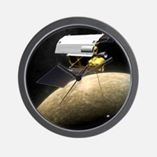 Messenger spacecraft at Mercury Wall Clock