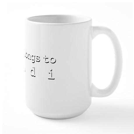My Heart Belongs To Mandi Large Mug
