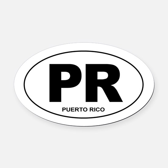 Puerto Rico - PR Oval Car Magnet
