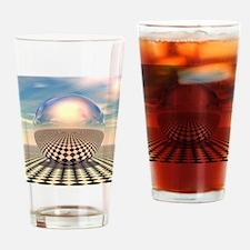 Checker Ball Drinking Glass
