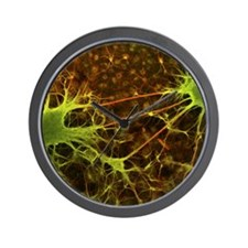 Nerve cell growth Wall Clock