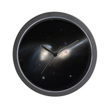 Mice colliding galaxies Wall Clock