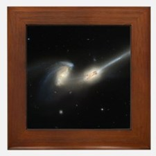 Mice colliding galaxies Framed Tile