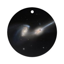 Mice colliding galaxies Round Ornament