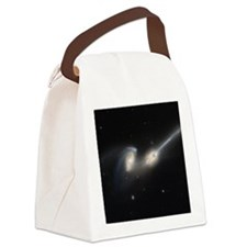 Mice colliding galaxies Canvas Lunch Bag