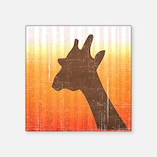"Giraffe Square Sticker 3"" x 3"""