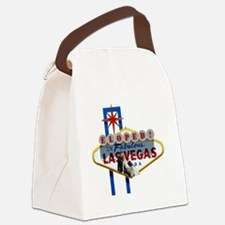 Eloped In Fabulous Las Vegas Card Canvas Lunch Bag