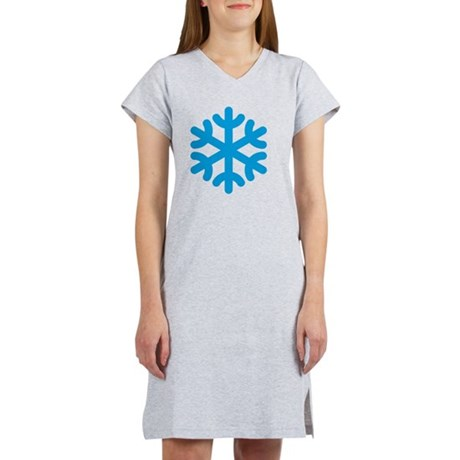 Snowflake / Copo De Nieve / Sch Women's Nightshirt