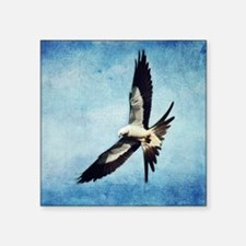 "Swallow Tail Kite Square Sticker 3"" x 3"""