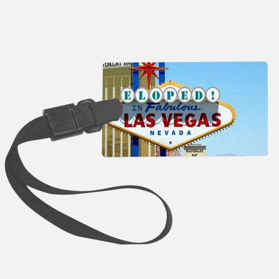 Eloped In Las Vegas Card Luggage Tag