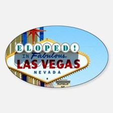 Eloped In Las Vegas Card Sticker (Oval)