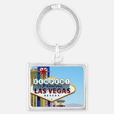 Eloped In Las Vegas Card Landscape Keychain