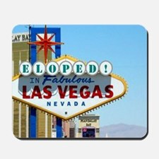 Eloped In Las Vegas Card Mousepad