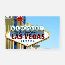 Eloped In Las Vegas Card Rectangle Car Magnet