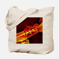 Neutrophil cell trapping bacteria, SEM Tote Bag