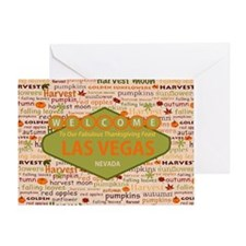 Thanksgiving Feast In Las Vegas Greeting Card